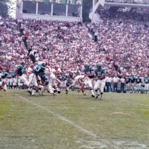 N. C. State and U.N.C. football game
