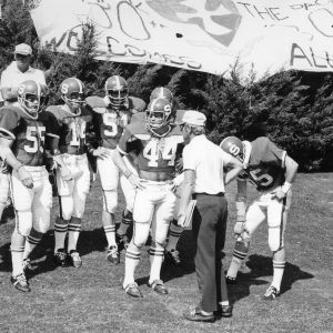 Coaches with N. C. State football team