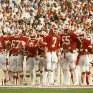 N. C. State football team on field