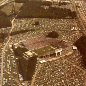 Aerial view of Carter-Finley Stadium