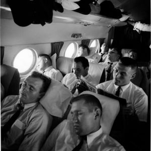 Football players on plane to Wyoming
