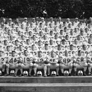 Varsity football team group photo