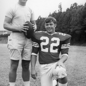 N. C. State football coach Jim Donnan and halfback Bob Pilz