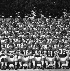 North Carolina State University Football Team group photograph