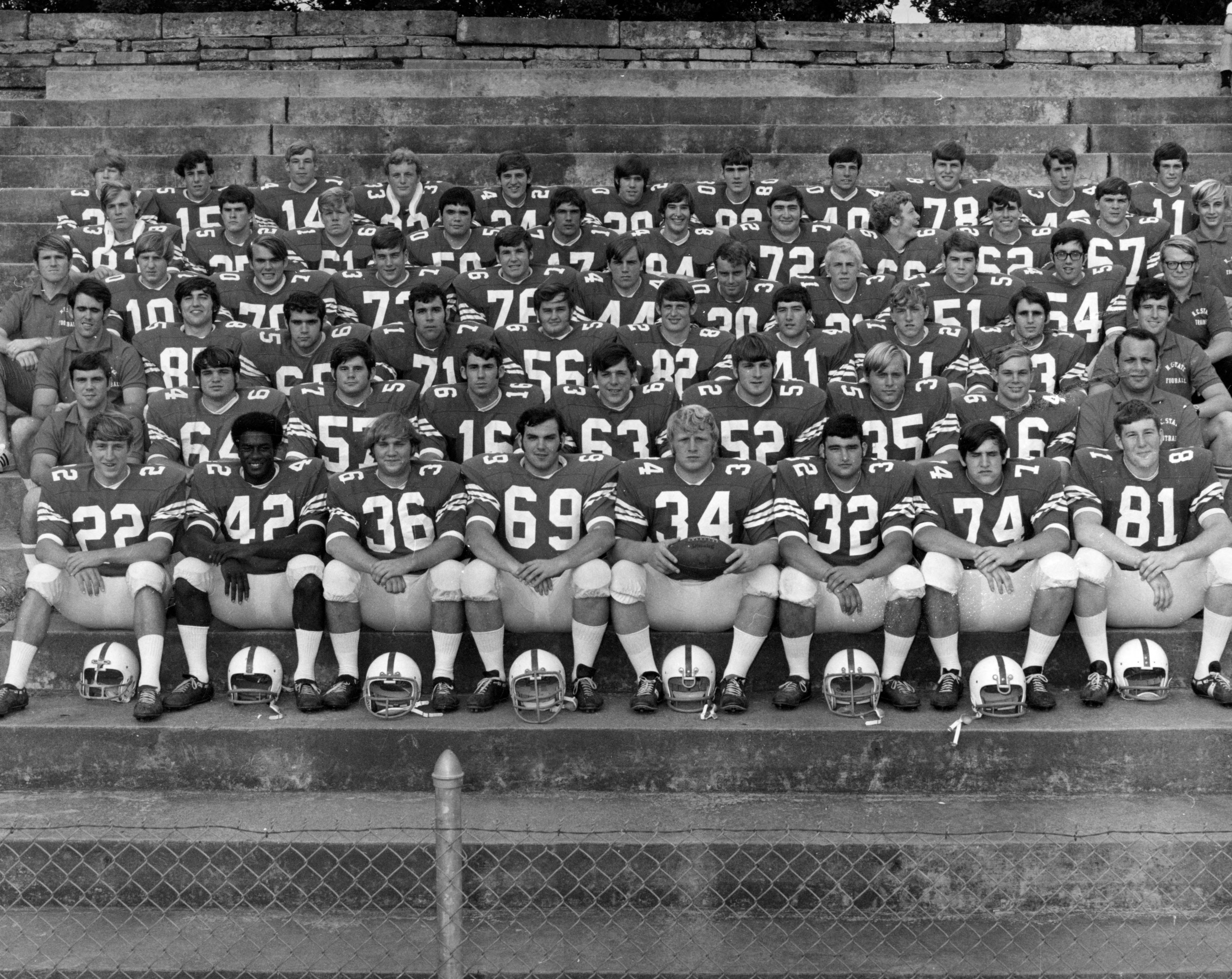 North Carolina State University Freshman Football Team group photograph