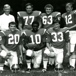 Atlantic Coast Conference Coach-of-the-Year Lou Holtz and football players