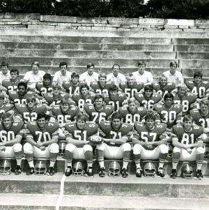 Junior varsity football team group photo