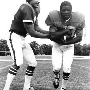 Football players Johnny Evans and Ted Brown