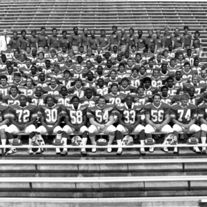 Varsity football team group photo