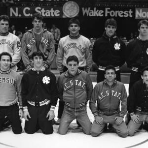 Atlantic Coast Conference wrestling champions group photo