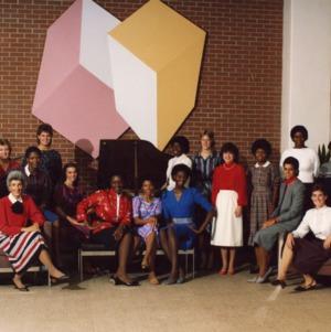 Women's basketball team group photo