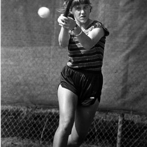 N. C. State tennis player on court