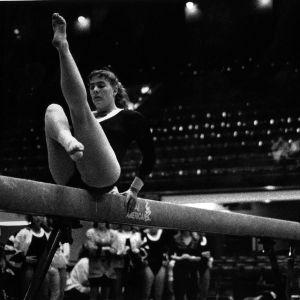 Gymnast on vault
