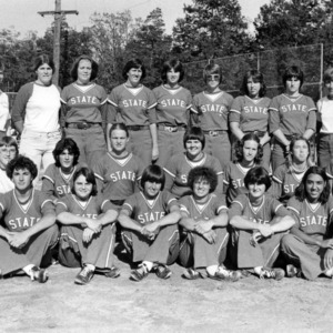 N. C. State Women's Softball team group photograph