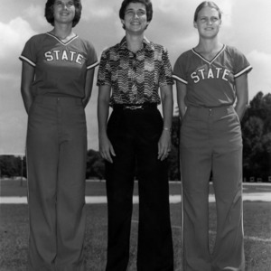 N. C. State Women's Softball coach and players