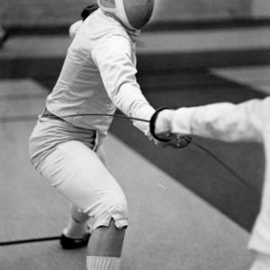 N. C. State fencer Diane Knoblach