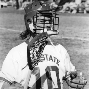 Lacrosse player on field