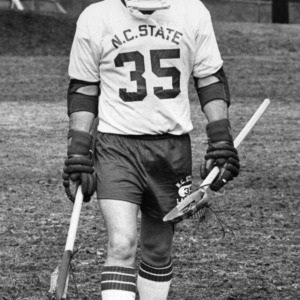 Lacrosse player Mark Whelam on field
