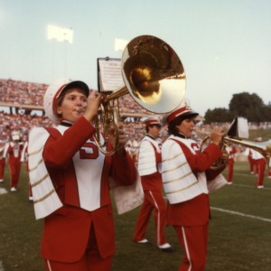 N. C. State marching band on field