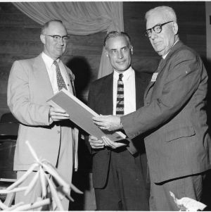 Dean H. Brooks James and others at awards ceremony