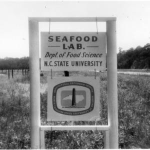 Sign for Department of Food Science's extension Seafood Laboratory