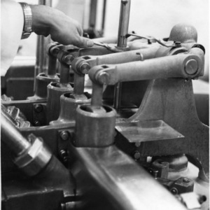 Detail of equipment, Pine State Creamery