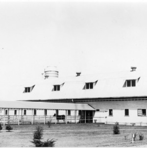Cow barn, Clear Springs Dairy Farm near Concord, NC