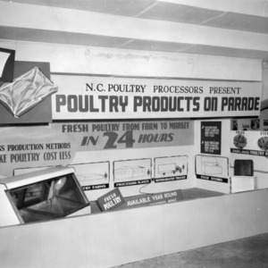 Poultry Products on Parade - Poultry Exhibit at 1958 N.C. State Fair