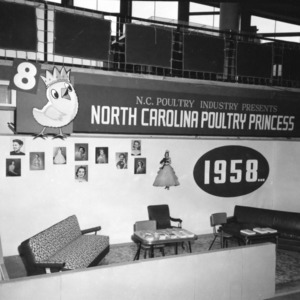 North Carolina Poultry Princess - Poultry Exhibit at 1958 N.C. State Fair