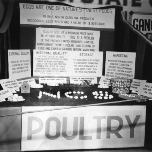 Poultry Student Exhibit at NC State Fair, 1947
