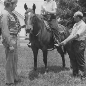 4-H Member Lu Ann Bragg Demonstrate Horsemanship