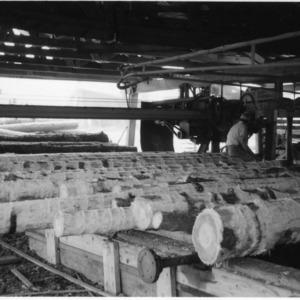 Sawmill Debarking Operation