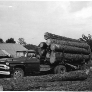 Log Truck at Sawmill