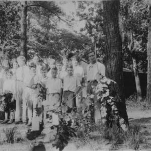 4-H Club Boys and girls at Camp Leach