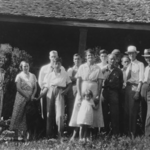 Vocational teachers and others on a study tour to the forest and nursery of the Log Cabin Association