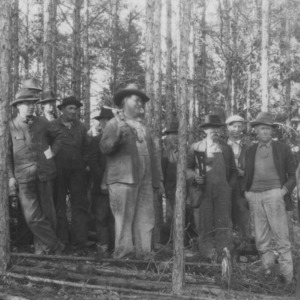 A group of Anson County farmers at a timber thinning demonstration