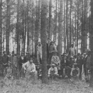 Forest meeting and timber thinning demonstration at farm of A.H. Oliver, Duplin County