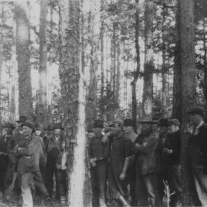 Forest meeting at farm of Burt Niblock, Rowan County