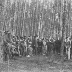 Land-owners and tenants at forestry meeting and demonstration at farm of G.W. Albritton, Duplin County, N.C.