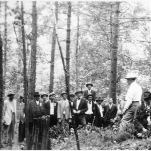 Meeting at the North Wilkesboro Municipal forest, during the convention of the North Carolina Forestry Association, September 10, 1930
