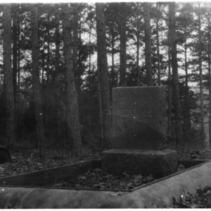 Grave and tomb of W.F. Vestal and Bettie S. Vestal