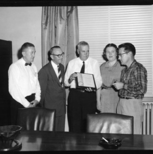 Brice Ratchford, Robert Shoffner, and three others with award