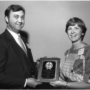 Joe Gregory and Sharon Hoppes with North Carolina Safety Council Award