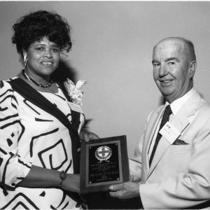 Marion Evans Isaac and J. Wilbert Forbes with North Carolina Safety Council Award