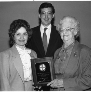 Betty Thompson, Todd Baker, Flora Smith with North Carolina Safety Award