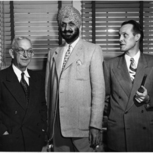 Major Sandhu Meeting with I. O. Schaub and Ford Milam