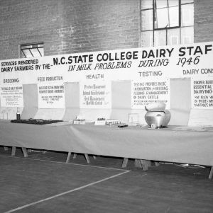 Farm and Home Week Dairy Exhibit