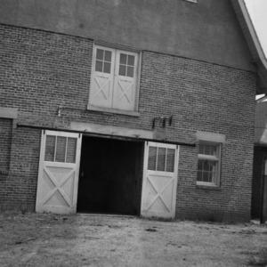 Stucco and Brick Barn