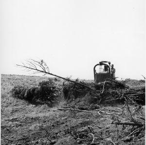 Bulldozer Clearing Land