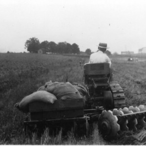 Tractor with Plowing Disc